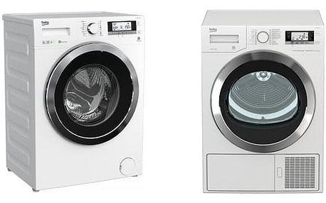 Set (Sušička prádla Beko DE 8635 RX0) + (Automatická pračka Beko Superia WMY 81443 STB1) + DOPRAVA ZDARMA