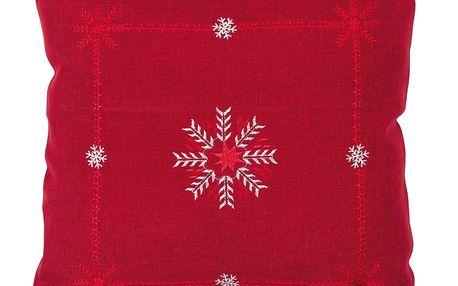 Forbyt Povlak na polštářek Vločky červená, 40 x 40 cm