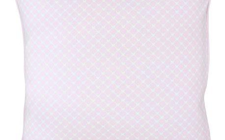 Krasilnikoff Povlak na polštář Hearts pink diagonal 50x50, růžová barva, textil