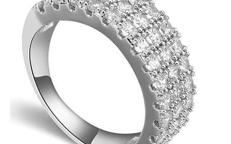 Prsten potažený rhodiem se zirkony Queen Hûggot