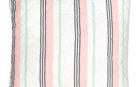 GREEN GATE Prošívaný povlak na polštář Leoma pech 50x50, růžová barva, textil