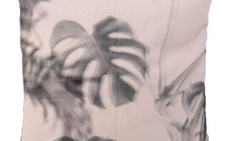 Bloomingville Polštář Print powder 45 x 45 cm, růžová barva, šedá barva, textil
