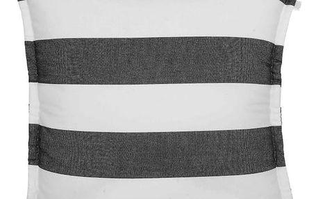 Tine K Home Polštář Tine K 50x50 Striped, černá barva, bílá barva, textil