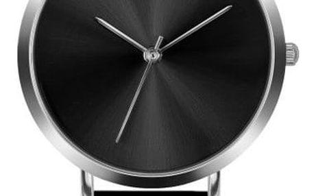 Dámské hodinky s černým páskem z nerezové oceli Emily Westwood Black - doprava zdarma!