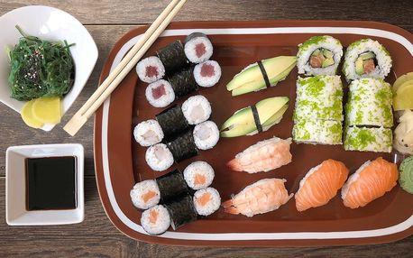 Exotický sushi set v žižkovském hotelu