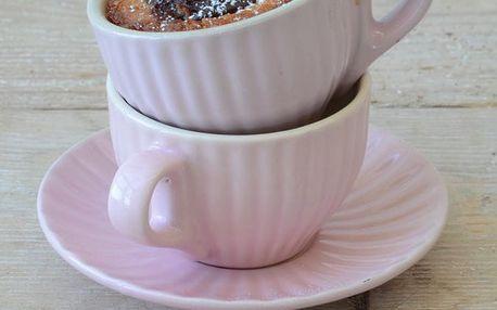 IB LAURSEN Šálek s podšálkem Mini Mynte English rose, růžová barva, keramika