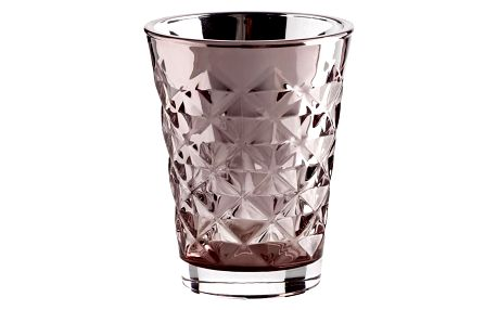 Tine K Home Svícen Facet glass Dusty rose 10 cm, růžová barva, sklo