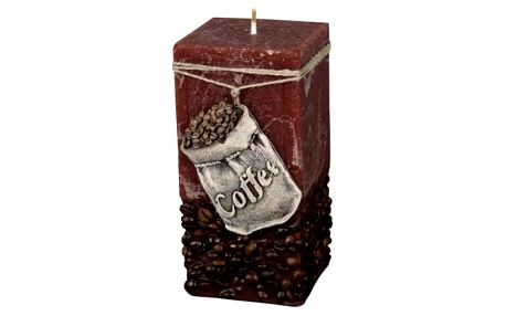 Dekorativní svíčka Coffee Bag hnědá, 14 cm