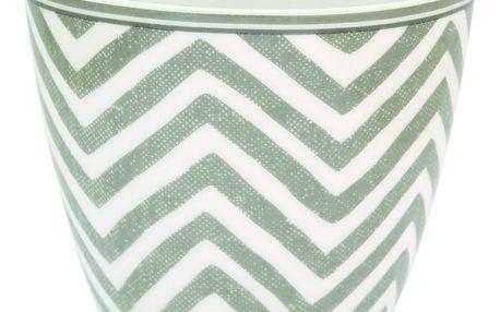 GREEN GATE Latte cup Ziggy warm grey, šedá barva, porcelán 350 ml