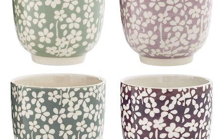 Bloomingville Keramický kalíšek Seeke Fialový, růžová barva, fialová barva, zelená barva, šedá barva, keramika