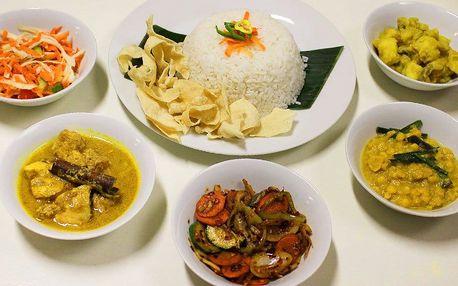 Degustační menu ve srílanské restauraci