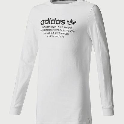 Tričko adidas Originals J NMD LS TEE Bílá