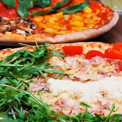 2 x házená pizza z 20 druhů v pizzerii Leonessa