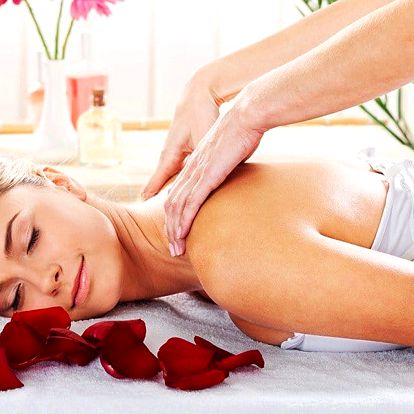 Luxusní růžová masáž zad v délce 50 minut