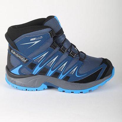 Boty Salomon XA PRO 3D MID CSWP J Slateblue/Blue Dept Modrá