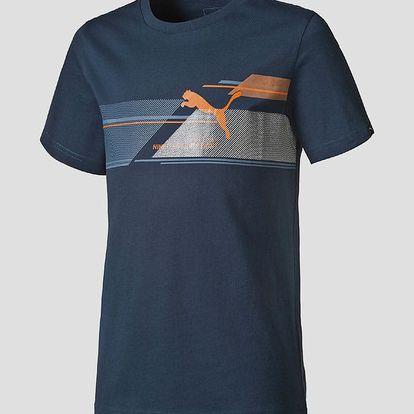 Tričko Puma FUN TD Graphic Tee B blue wing teal Modrá