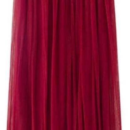 Lehká sukně na léto - 11 barevných variant - červená - dodání do 2 dnů