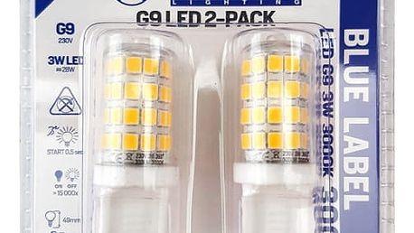 Žárovka LED Tesla bodová, 3W, G9, teplá bílá (G9000330-5PACK )