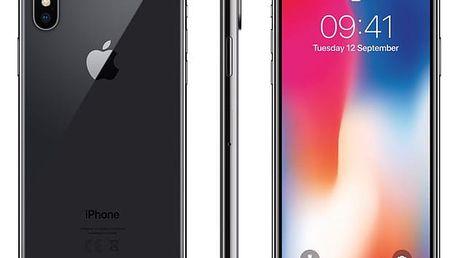 Mobilní telefon Apple iPhone X 64 GB - Space Gray (MQAC2CN/A) Software F-Secure SAFE 6 měsíců pro 3 zařízení v hodnotě 979 Kč + DOPRAVA ZDARMA