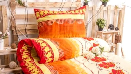 XPOSE ® Bavlněné povlečení na dvě lůžka AMÁLIE - červená 140x200, 70x90