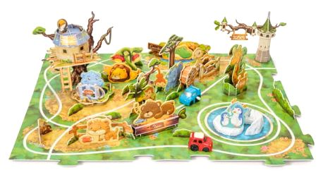 Zoo stavebnice se safari autíčkem na klíč