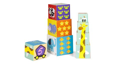 Skladací věž z kostek Animals