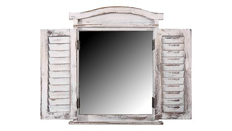 Bílé zrcadlo Mendler Shabby