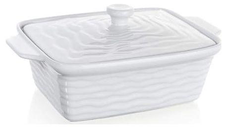 BANQUET Zapékací forma obdélníková s víkem 28x18cm Culinaria White 60ZF09