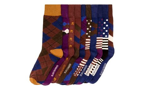 Sada 10 párů vysokých unisex ponožek Black&Parker London Taylor,velikost37/43