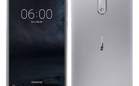 Mobilní telefon Nokia 6 Dual SIM (11PLES01A09) stříbrný + Doprava zdarma
