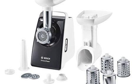 Mlýnek na maso Bosch CompactPower MFW3640A šedý/bílý + Doprava zdarma
