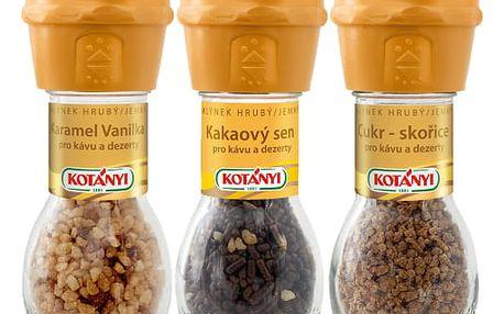 Mlýnky karamel, skořice, čokoláda Kotányi 152 g
