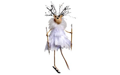 Sada 4 závěsných dekorace Côté Table Reindeer Plume
