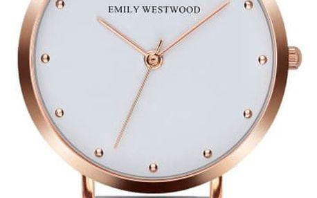 Dámské hodinky s páskem z nerezové oceli ve stříbrné barvě Emily Westwood Birdie