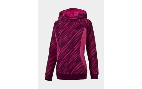 Mikina Puma Style Hoody FL G fuchsia purpl Růžová