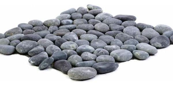 Garth Mozaika říční oblázky - šedá obklady - 1x síťka2