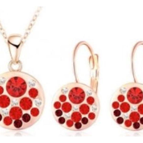 Okouzlující set náušnic a náhrdelníku v pastelových barvách s rakouskými zářivými krystaly.