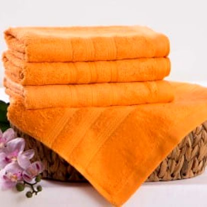 XPOSE ® Bambusová osuška SÁRA - oranžová 70x140 cm