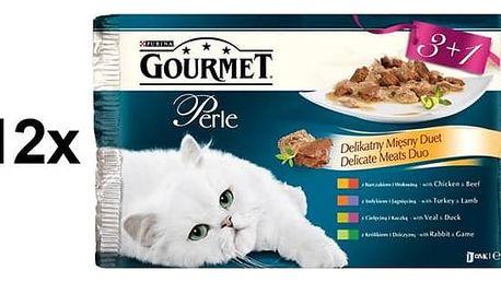 Kapsička Gourmet Perle Duo masové Multipack 12 x (3+1 zdarma 85g)