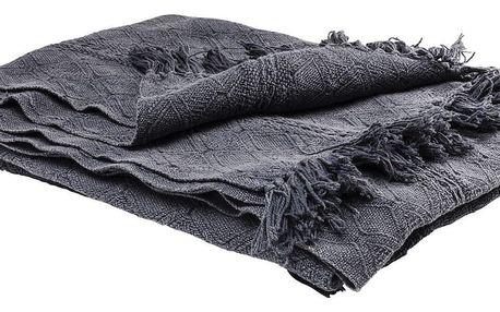 Tmavě šedá deka Kare Design Cosy, 200x140cm - doprava zdarma!