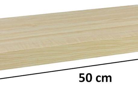 STILISTA VOLATO 31050 Nástěnná police - světlé dřevo 50 cm