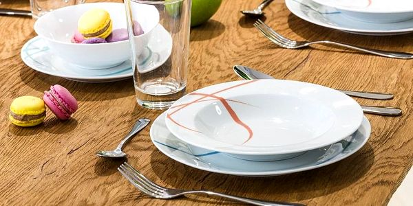 Banquet Pastelle sada talířů, 18 ks2