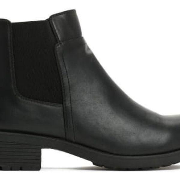 Dámské černé kotníkové boty Hattie 6177