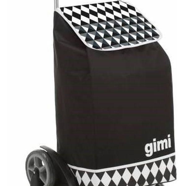 Gimi Nákupní taška na kolečkách Tris Optical černá, 56 l