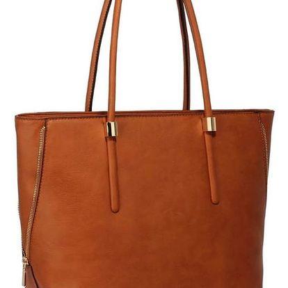 Koňakově hnědá kabelka z eko kůže L&S Bags Truda