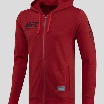 Mikina Reebok UFC FG FULL-ZIP HOODIE Červená
