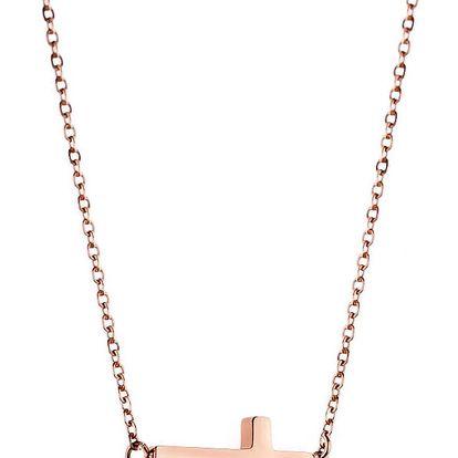 Dámský náhrdelník s motivem křížku z nerezové oceli Emily Westwood