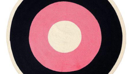 Růžovočerný koberec Done by Deer, ⌀113cm