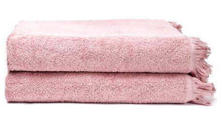 Sada 2 růžových bavlněných osušek Casa Di Bassi Bath, 100x160cm