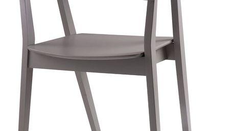 Sada 2 šedých jídelních židlí sømcasa Donna - doprava zdarma!